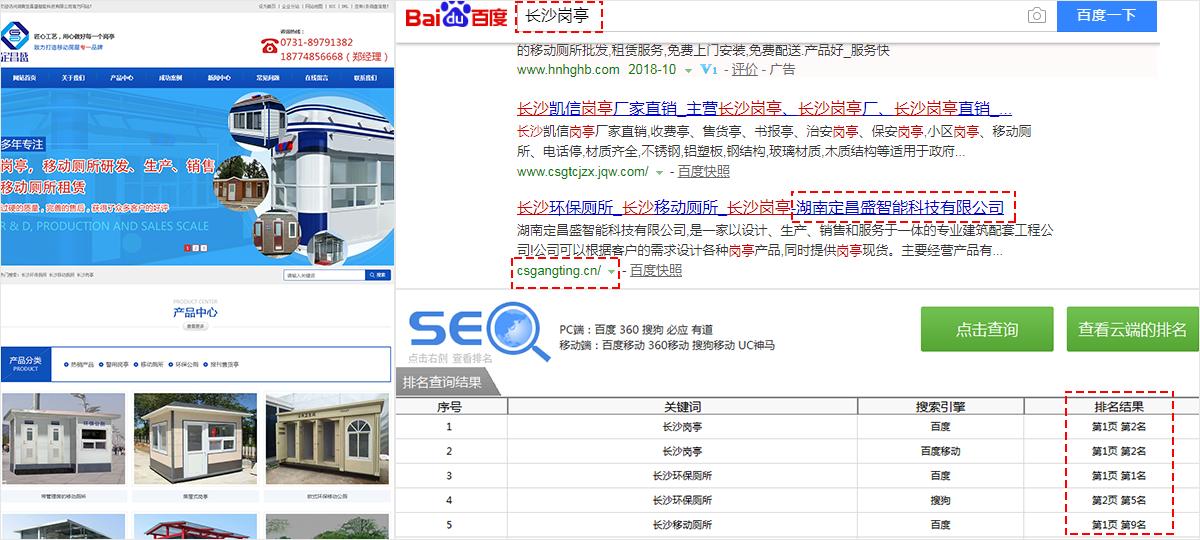 湖南定昌盛智能科技有限公司-长沙优化网站SEO案例