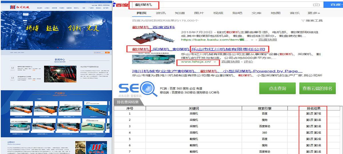 乐山市红川机械有限责任公司-长沙网站优化排名_SEO案例